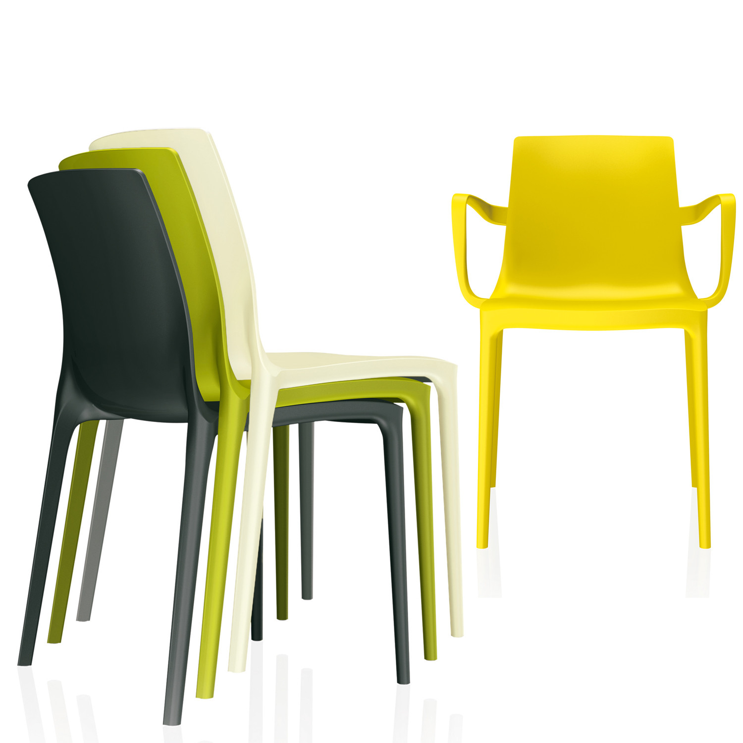 Brunner Twin Chairs are available with or without armchairs