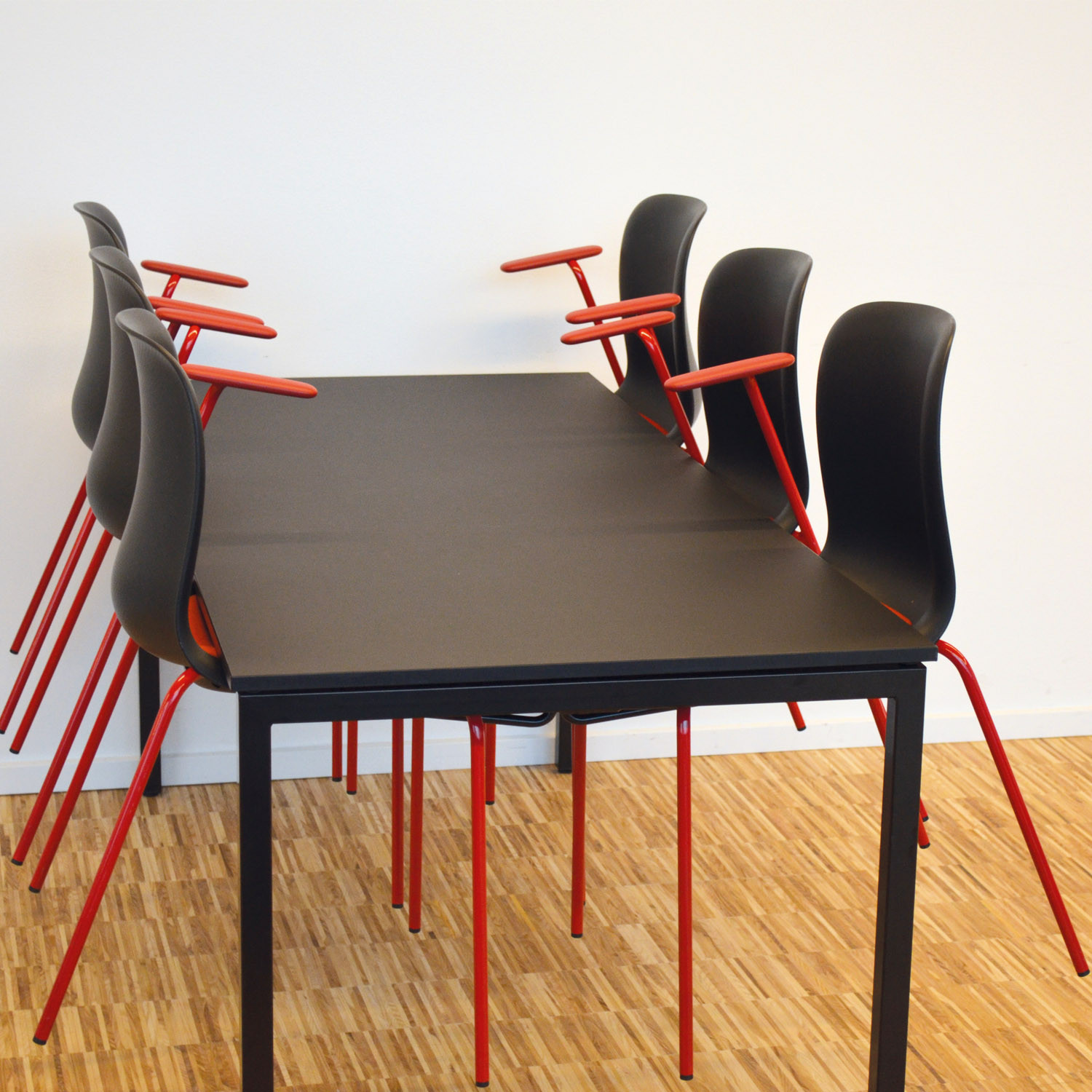 Usu Folding Tables with Chair Hanger System