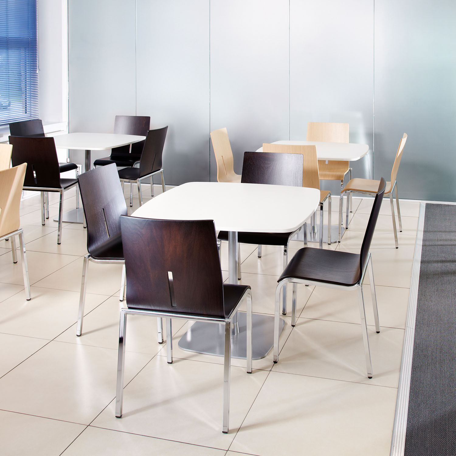 Vent Canteen Chairs by Roger Webb Associates