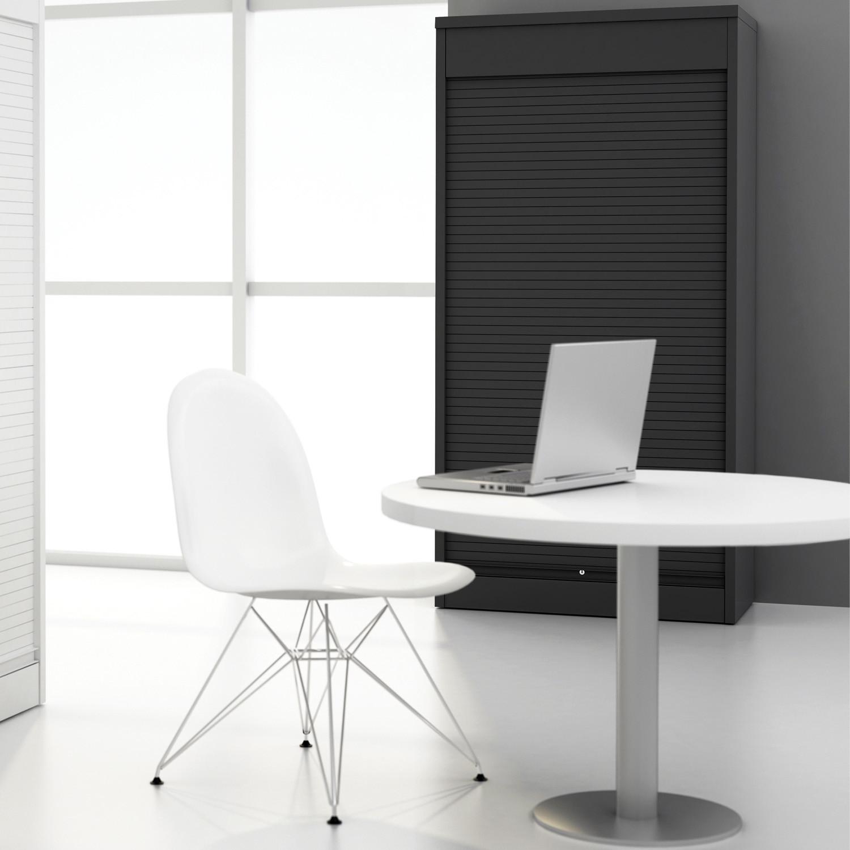 Vertical Tambour Office Cupboard
