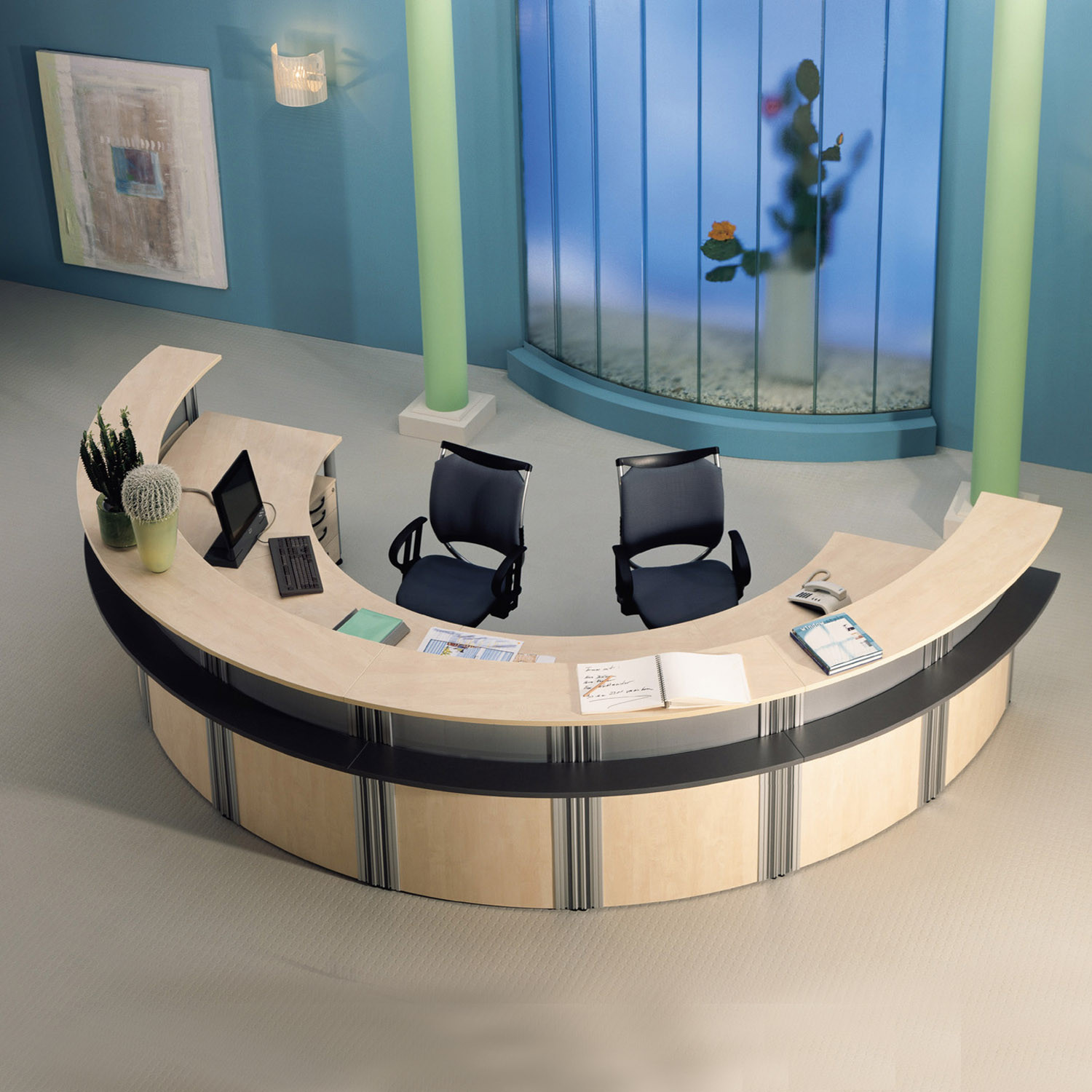 VisitASS Curved Reception Desk