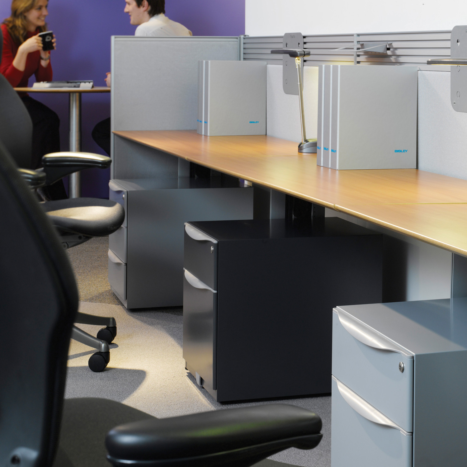 Wave Office Pedestals by Bisley