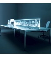 I-Bench Desk With City Scape Desk Screen