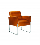 5070 Vega Armchair features a slender sled-base