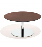 8800 Cafe Height Table with round plate base