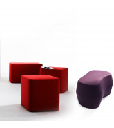 Base and Rock'd Sitting Poufs