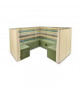 Boulevard Modular Seating System in green