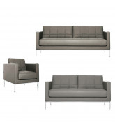 Cross Sofa and Armchair