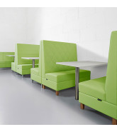 Engage Modular Banguette Seating in green