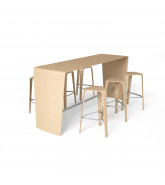 Hoc Standing Table and Hoc Stools