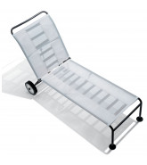 Green Outdoor Sun Lounger with castors
