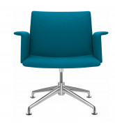 Fina Easy Chair with Upholstered Armrests