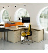 Optima Plus Workstation with desk pedestals