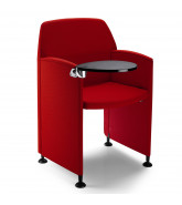 Papillon Conference Chair with writing tablet