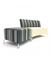 Path Sofa Concave Unit with Stool