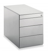professional pedestal 3 box drawers + 1 stationery drawer
