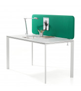 Softline rectangular desk screen