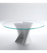 S Table with Glass Top