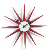 Red Sunburst Clock