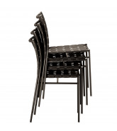 Tagliatelle Chairs stack up to 10 chairs