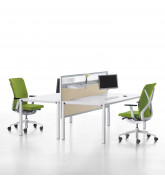 Temptation Four Desks + Sedus Desk Screen