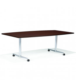 6000 San_Siro Rectangular Meeting Table with castors