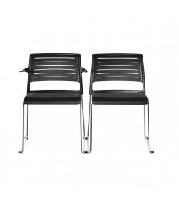 Aline-S Chairs with and without armrest
