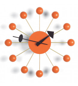 Ball Wall Clock in Orange