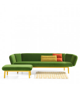 Bras Sofa and Foot Stool