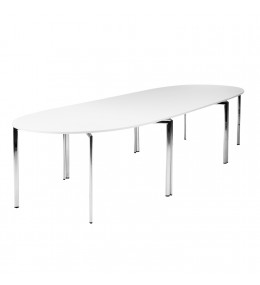 Campus conference table system in white