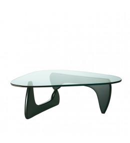 Coffee table in black ash