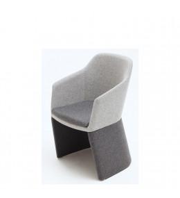 Drum Tub High Back Armchair - upholstered base