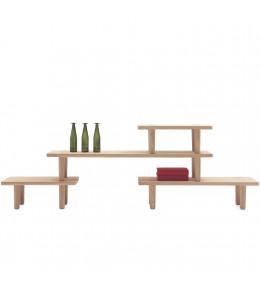 Oak Low Table Module by Cappellini