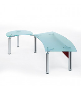 Forma Kristall Glass Executive Desk