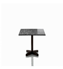 Happyhour Outdoor Table with tabletop pattern by Javier Mariscal