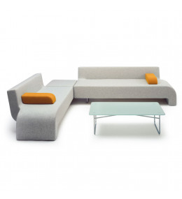 Hm30 Sofas combined with Corner Ottoman