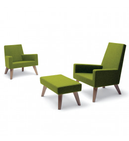 HM44 Armchairs and Footstool