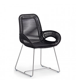 Coates Loop Chair in Black Acrylic