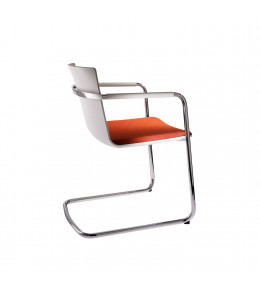 Neos Cantilever Chairs - white frame