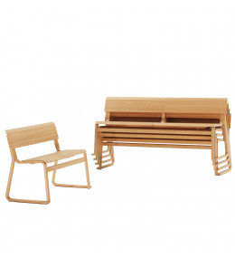 Theo Stackable Wooden Bench Seating