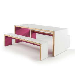 Waldo 45 Table and Bench Seating