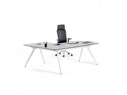 Actiu Arkitek Glass Desk with Return