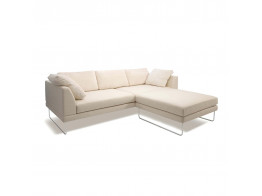 Bebe Sofa, Chaise And Ottoman in Cream