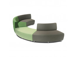 Buzz Modular Seating in green and grey