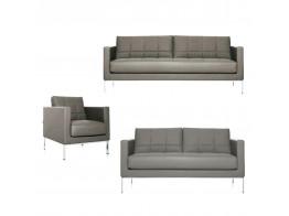 Cross Sofa and Armchair