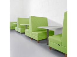 Engage Modular Banguette Seating in green