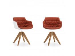 Flow Slim Wooden Armchairs