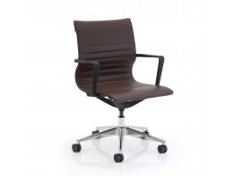 Flux Chair With Ribbed Faux Leather