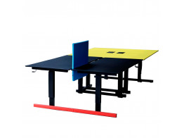 Grid Height Adjustable Bench Desks