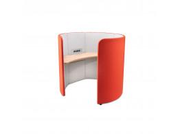 Loop Desk Pod in Deep Orange